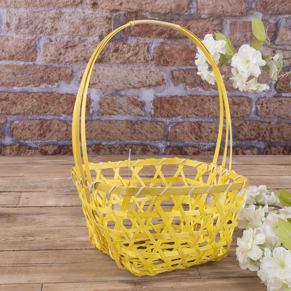 корзина декоративная (желтая)