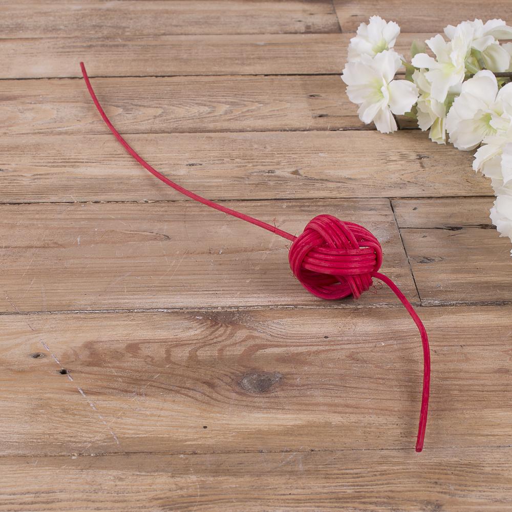 шарик из ротанга  (красный)