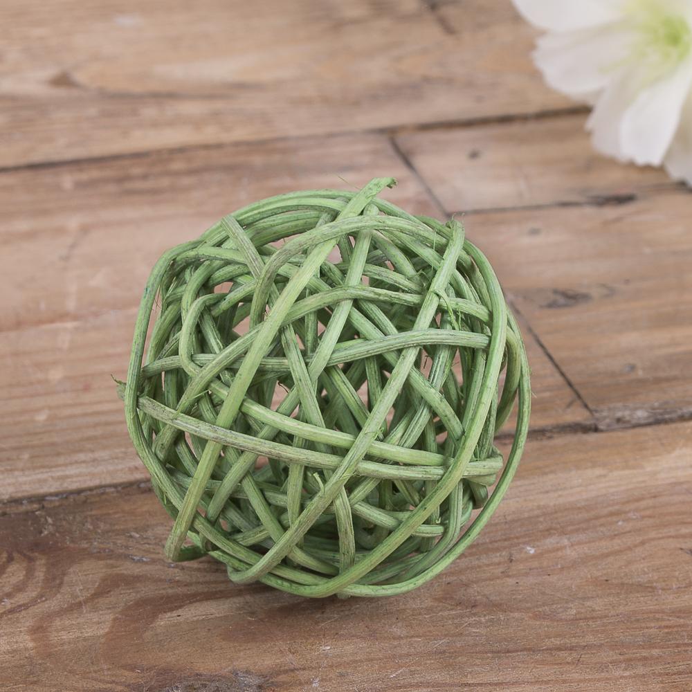 кульки ротанг 5 см зелений