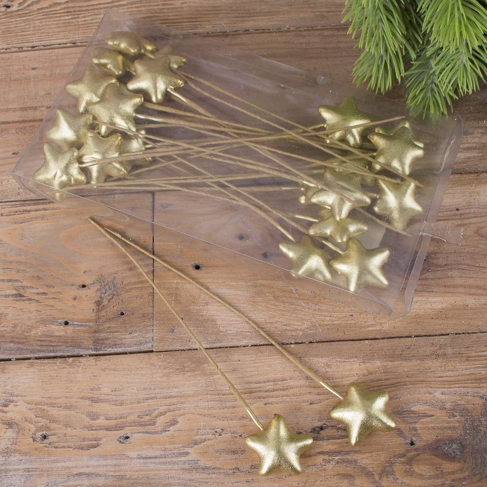 топпер звезда золотая (набор 24шт)