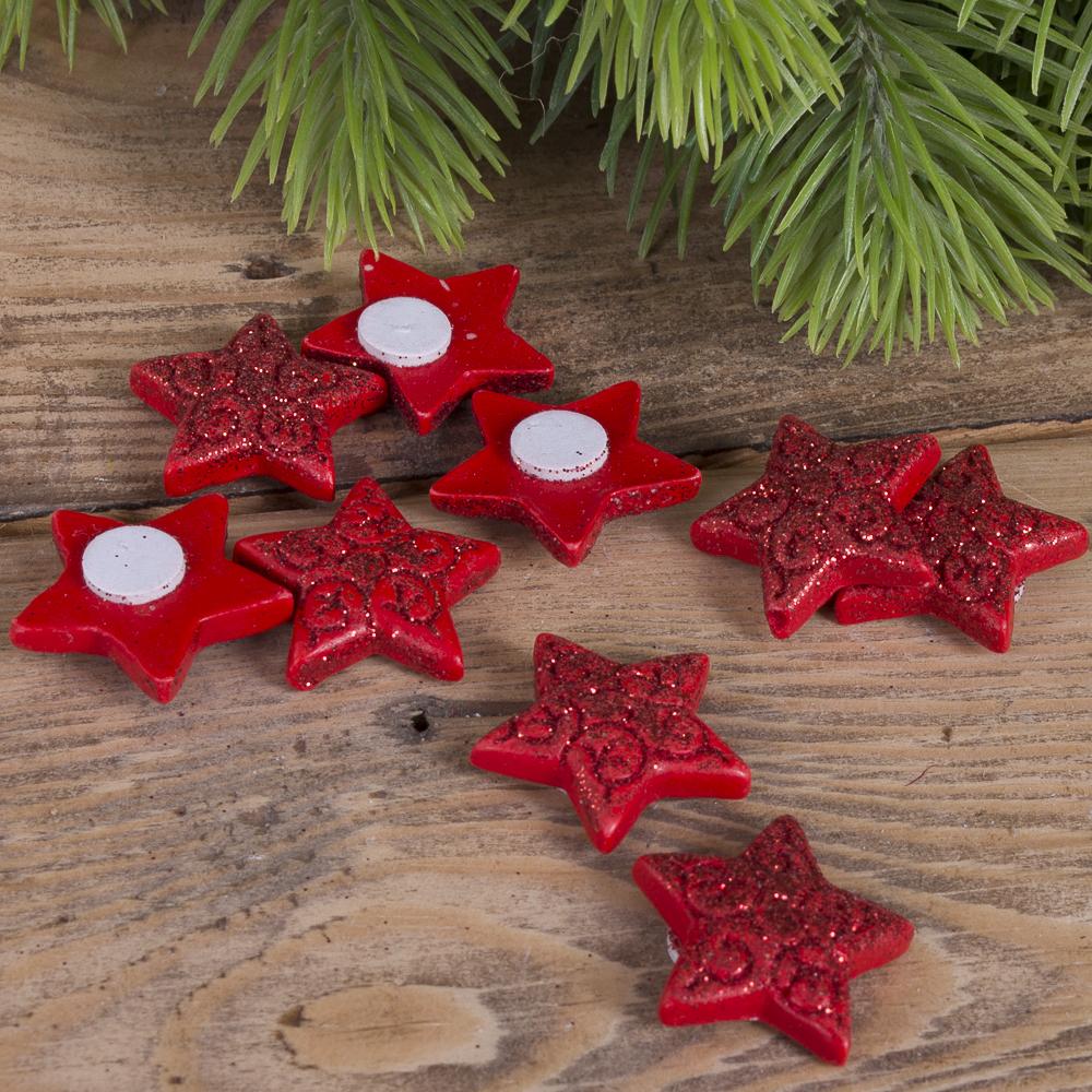 наклейки звезды  из керамики красные
