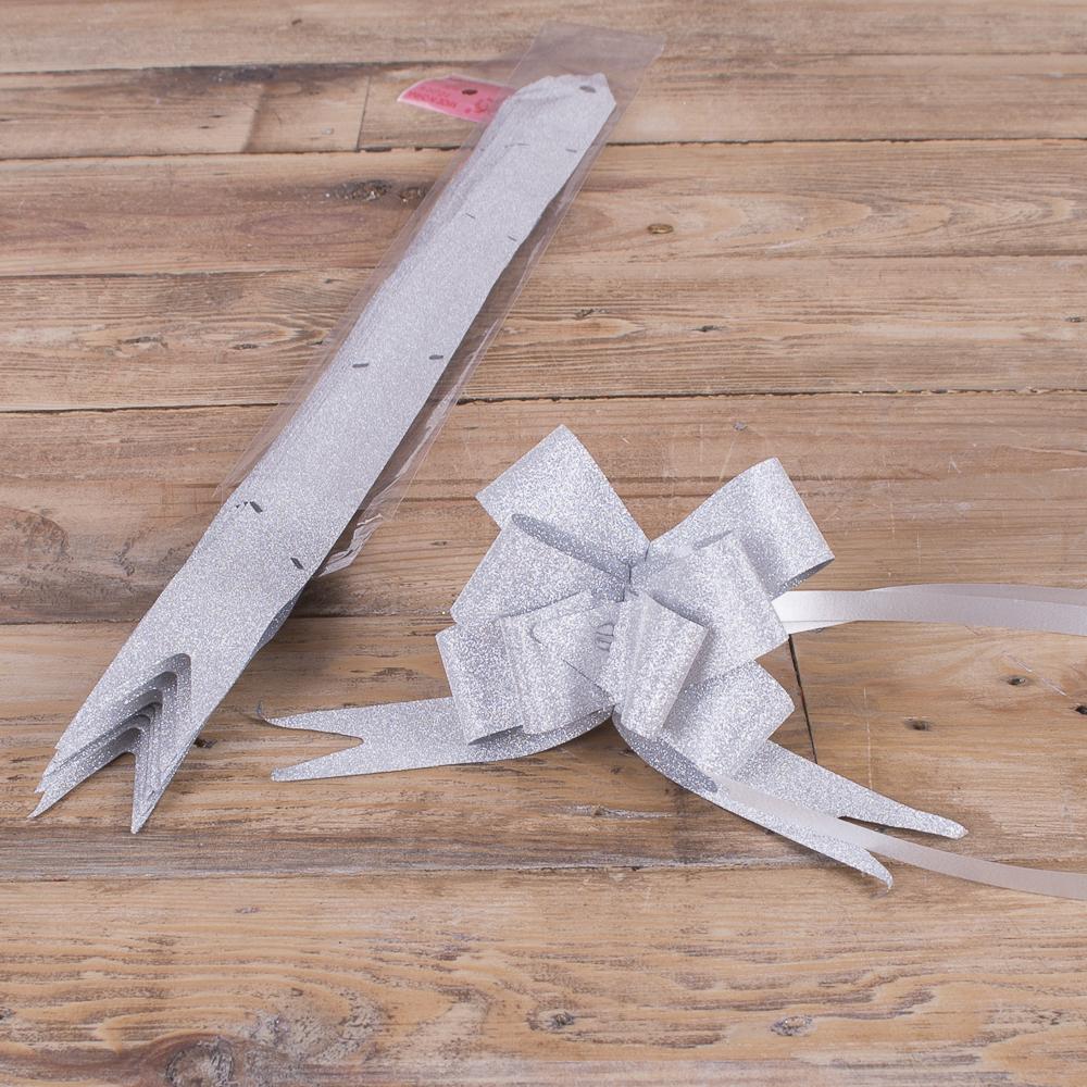 бант - стяжка (10 шт) серебряный