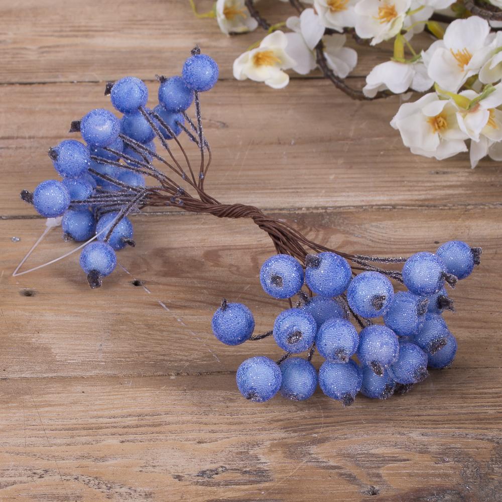 пучок ягоды-штанга в сахаре голубые