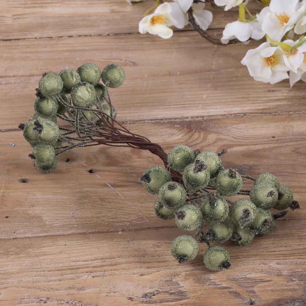 пучок ягоды-штанга в сахаре зеленые