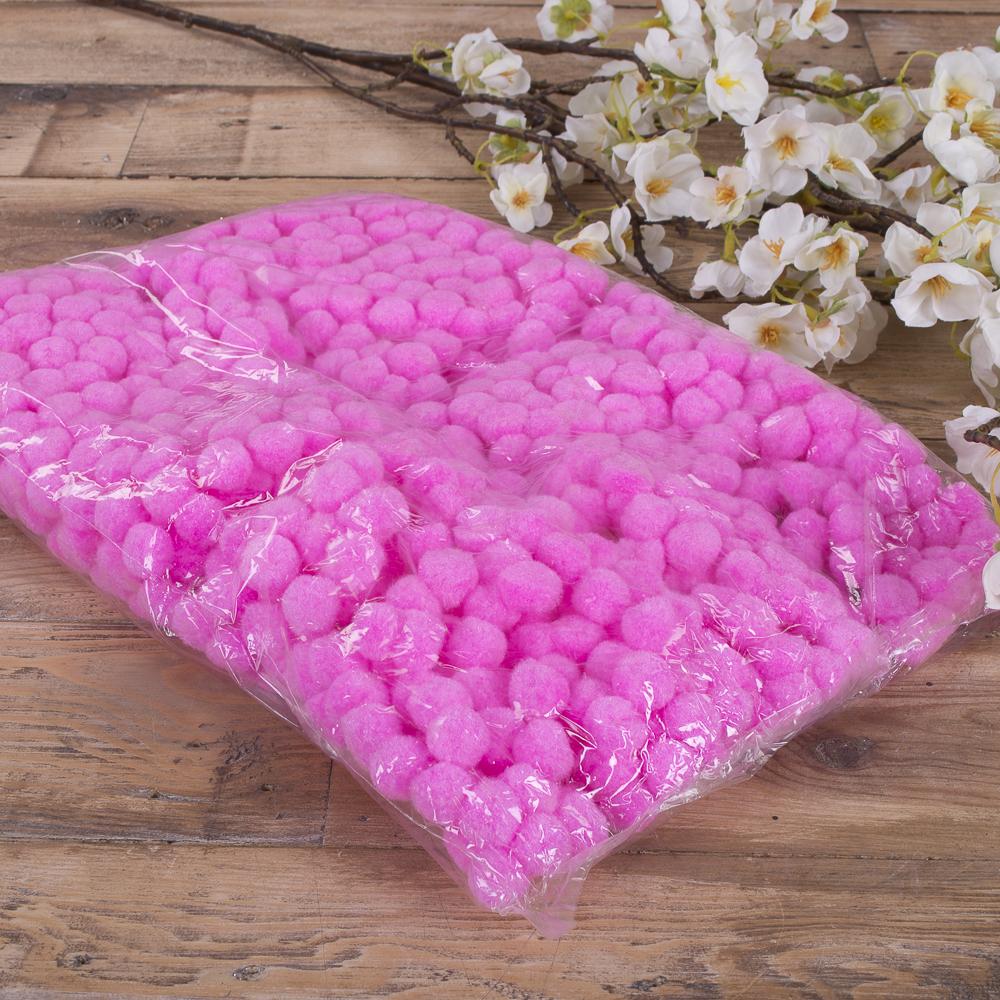 помпони декоративні маленькі 1,5 см (рожеві)