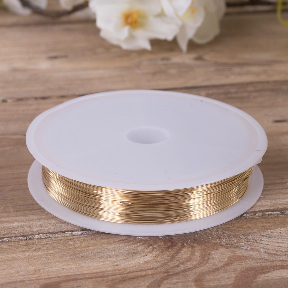 дріт флористичний 0,3мм * 20м золотий