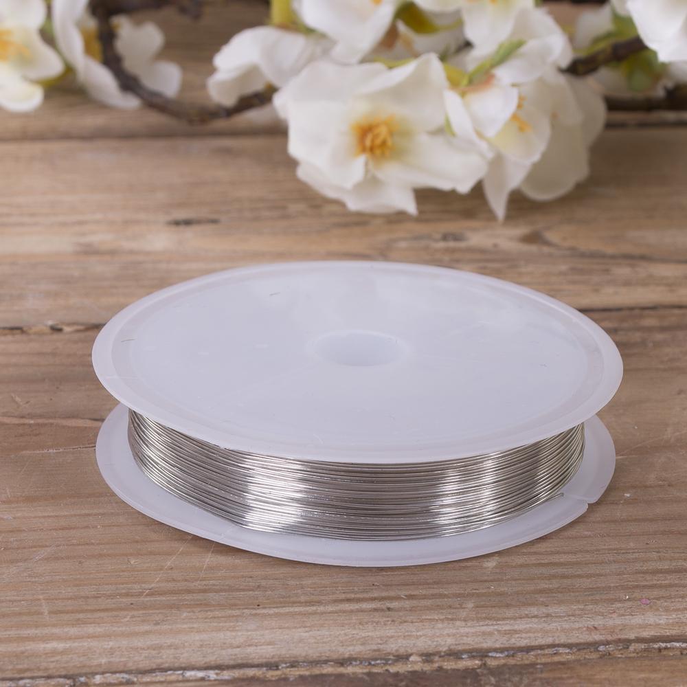 дріт флористичний 0,4мм * 20м срібло
