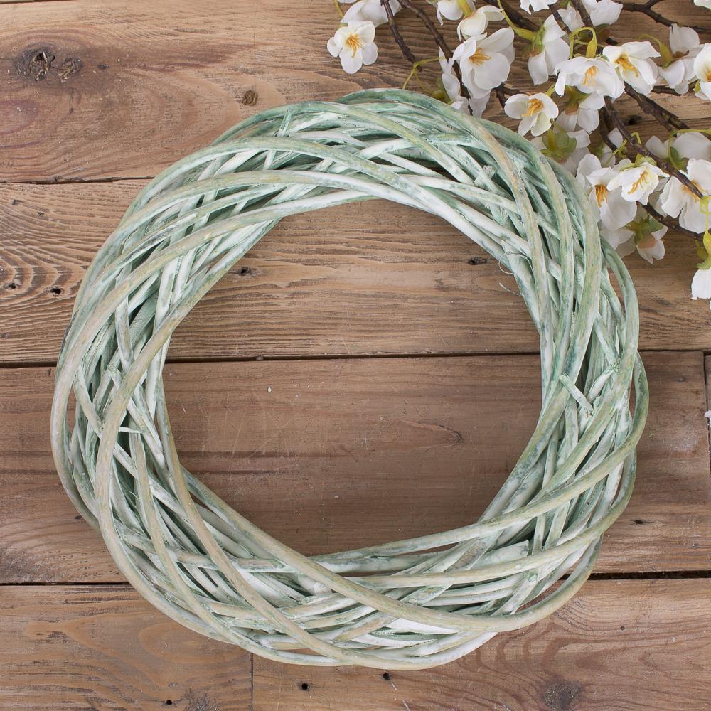 Вінок з лози 30 см зелений