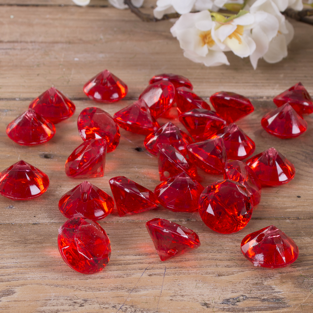камушки - диаманты красные