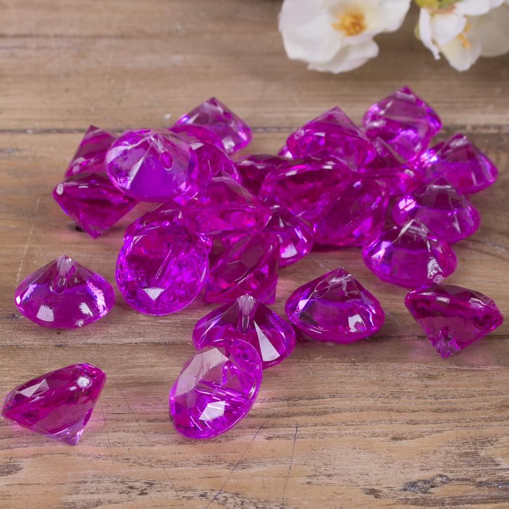 камушки - диаманты фиолетовые