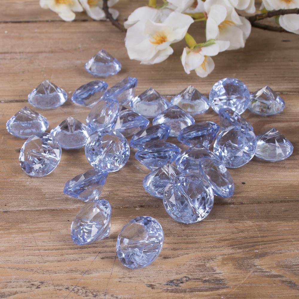 камушки - диаманты голубые
