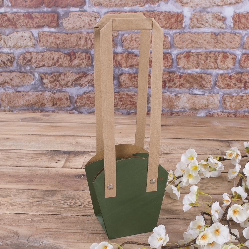 "пакет под цветы ""трапеция"" малый (зеленый)"