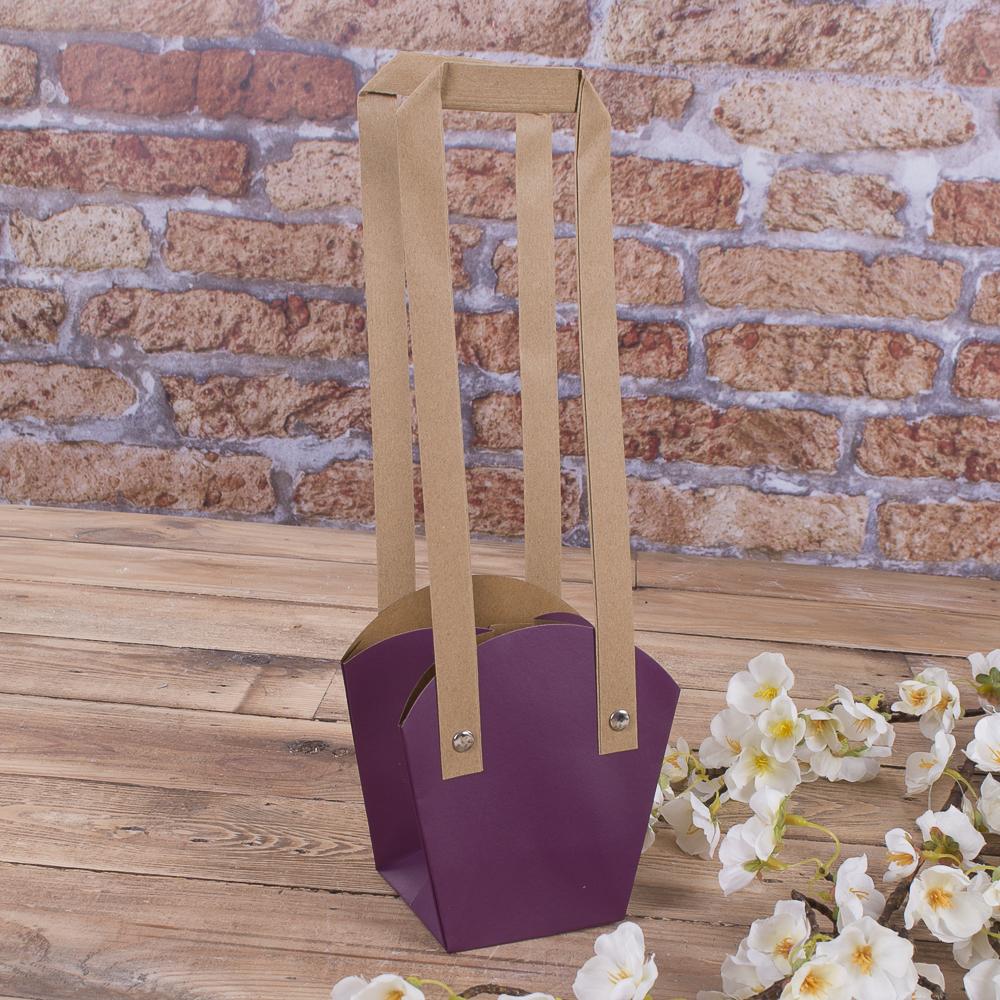 """пакет под цветы """"трапеция"""" малый (фиолетовый)"""