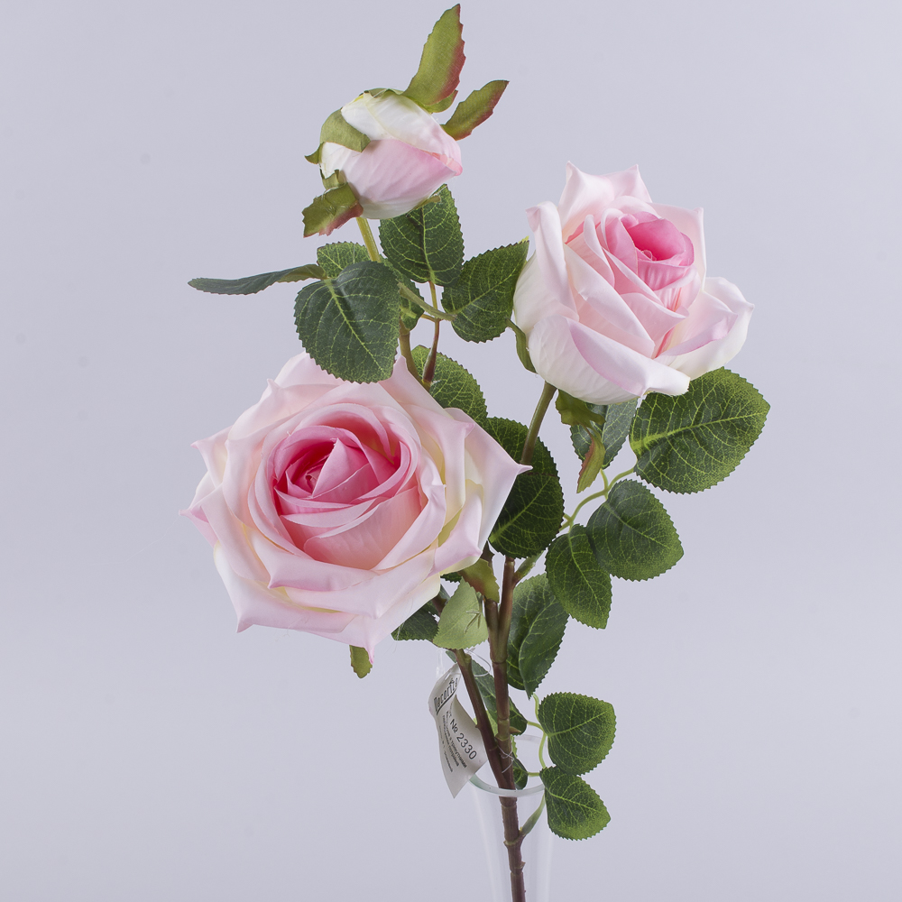 роза премиум тройная розовая