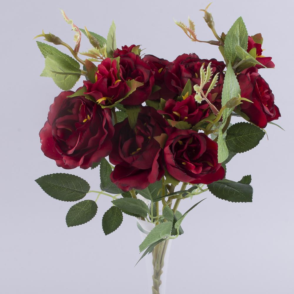 букет кущових троянд червоний