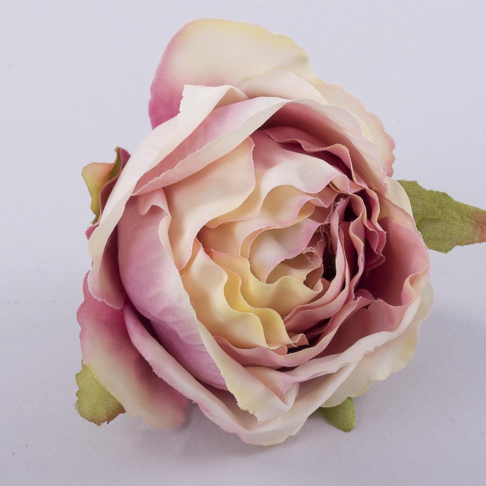 """Головка розы """"помпонелла"""" пастельная"""