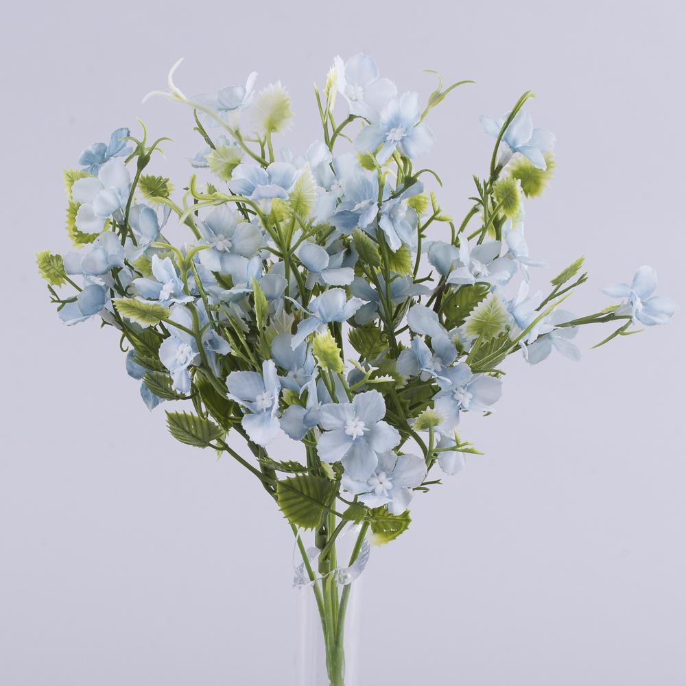"""Букет мини цветы """"Вена"""" (голубой)"""