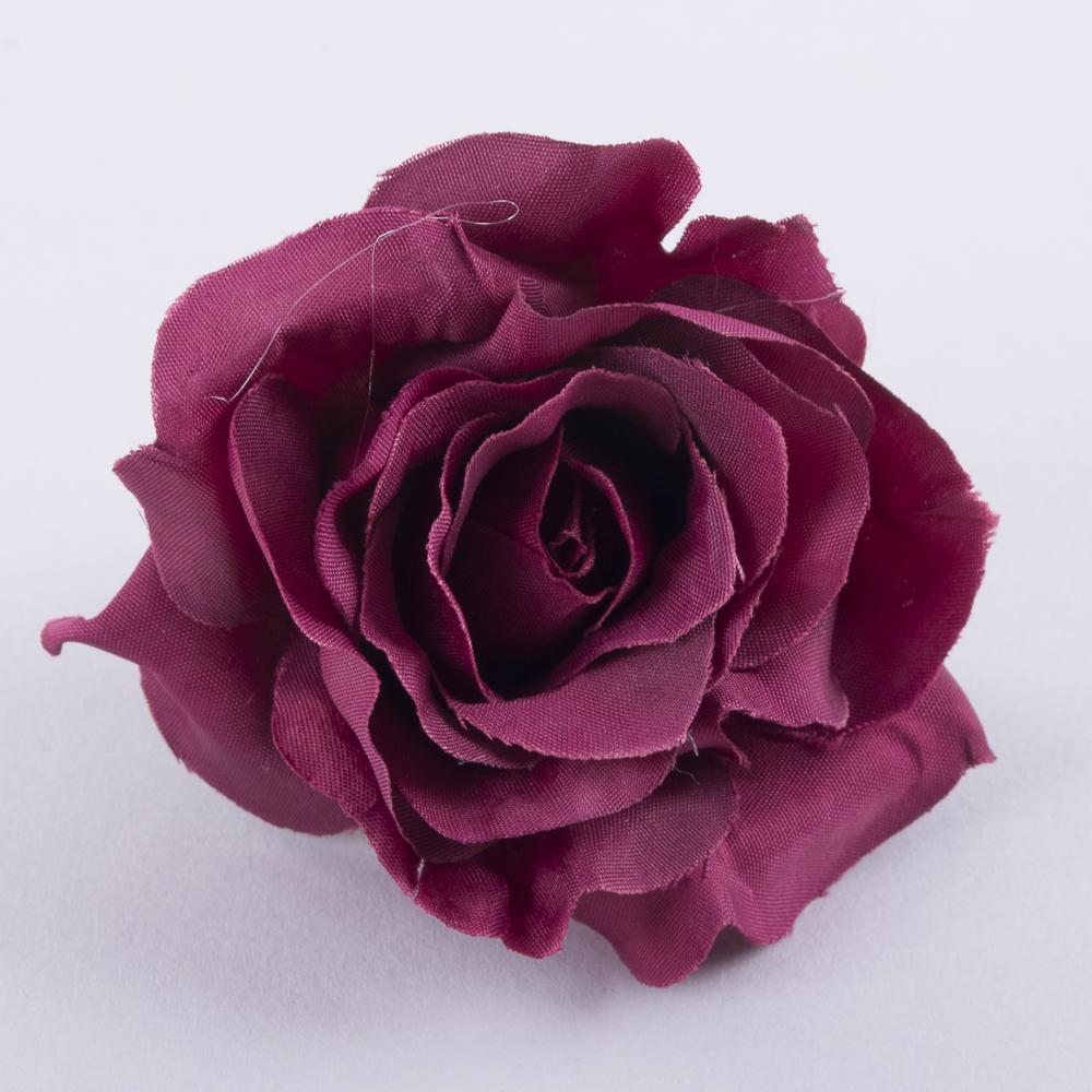"""головка розы """"остролистая"""" бордовая"""