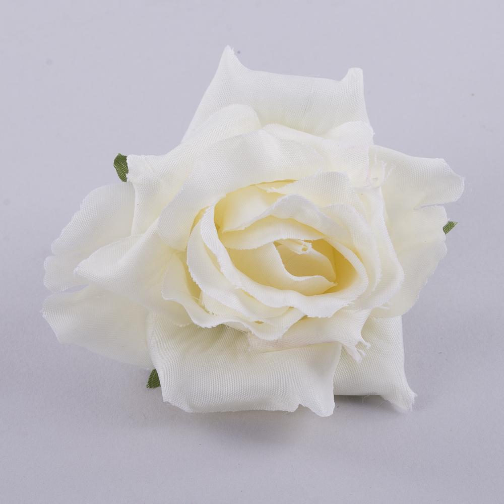 """головка розы """"остролистая"""" кремовая"""