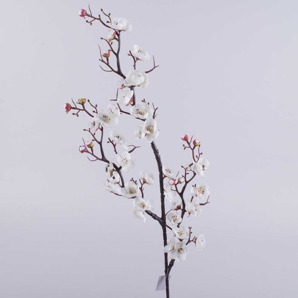 Ветка сакуры покрученая тройная (белая)