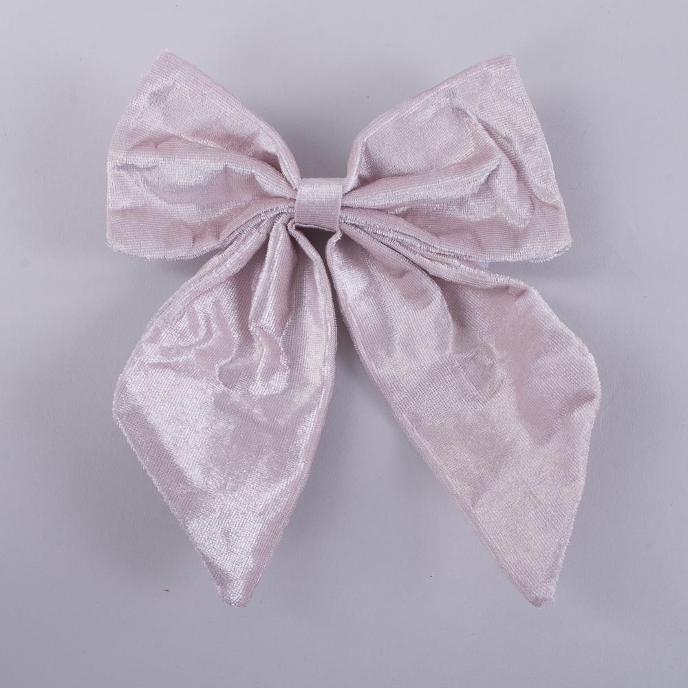 бант для декора розовый на прищепке