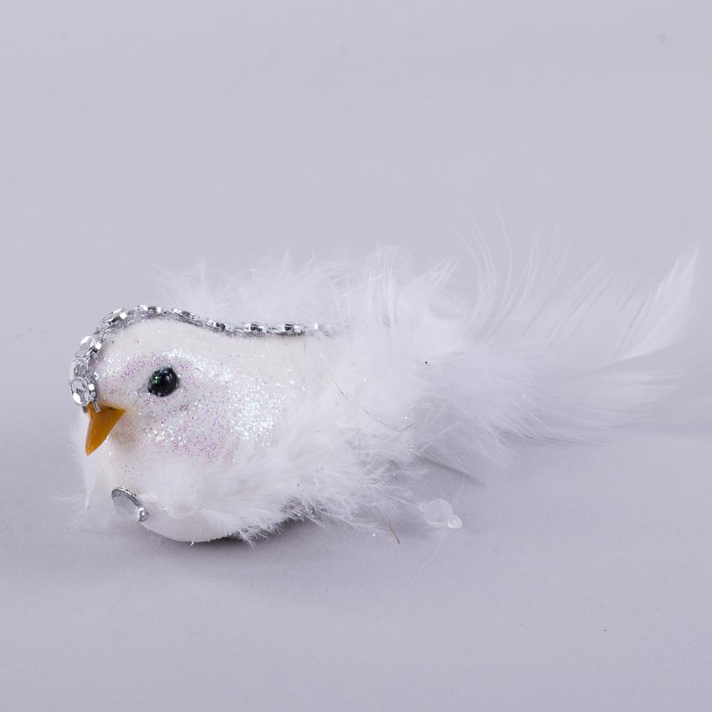 птичка белая на прищепке