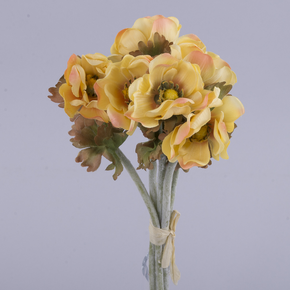 букет анемонов желтый