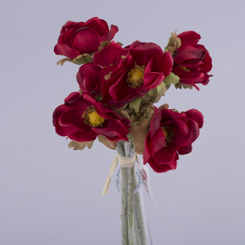 букет анемонов бордовый