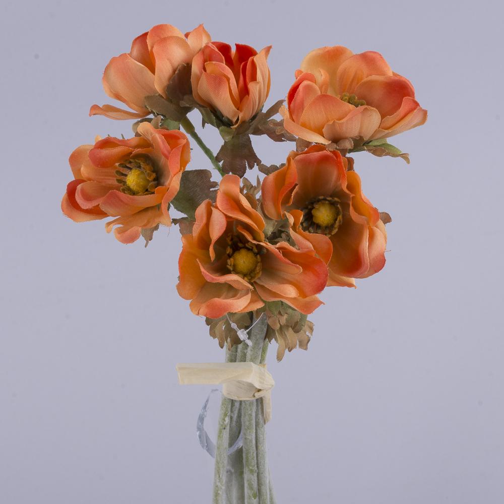 букет анемонов оранжевый