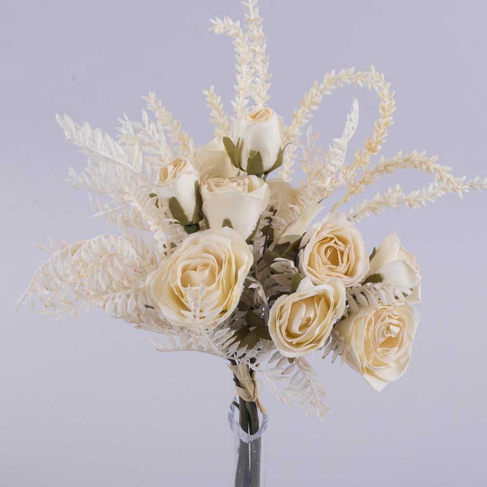 букет троянд з Вересом кремова