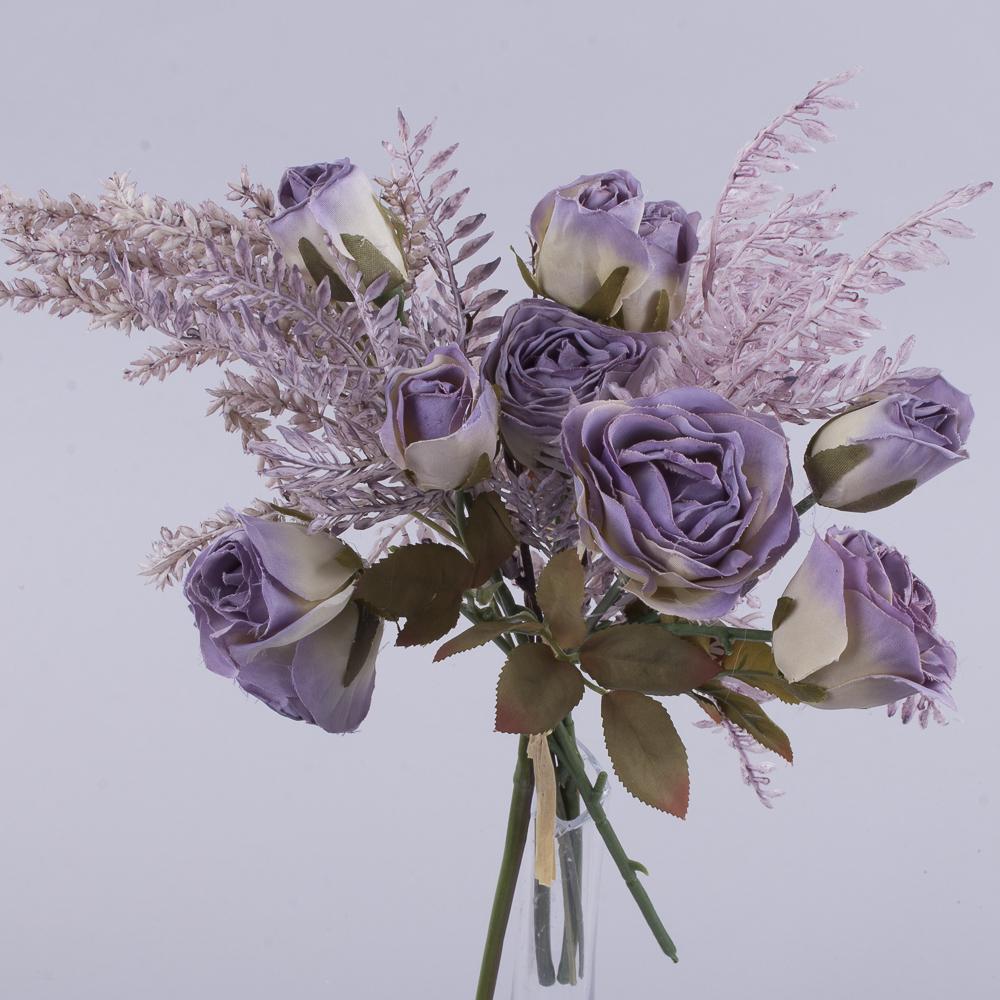 букет троянд з Вересом фіолетовий