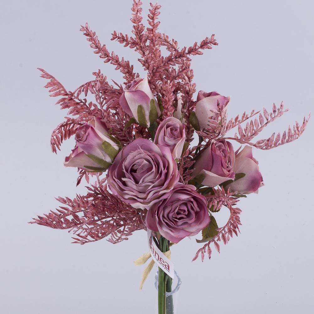 букет троянд з Вересом рожевий