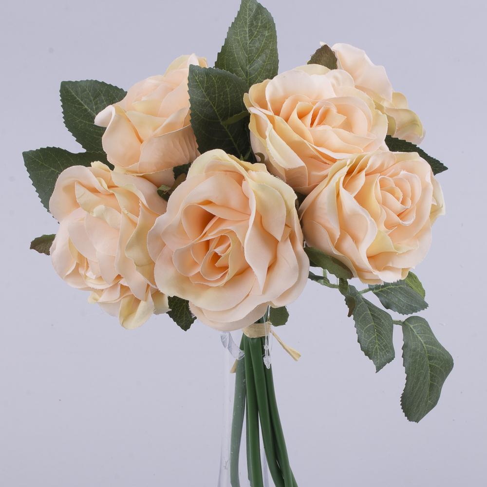букетик коротких трояндочок персиковий