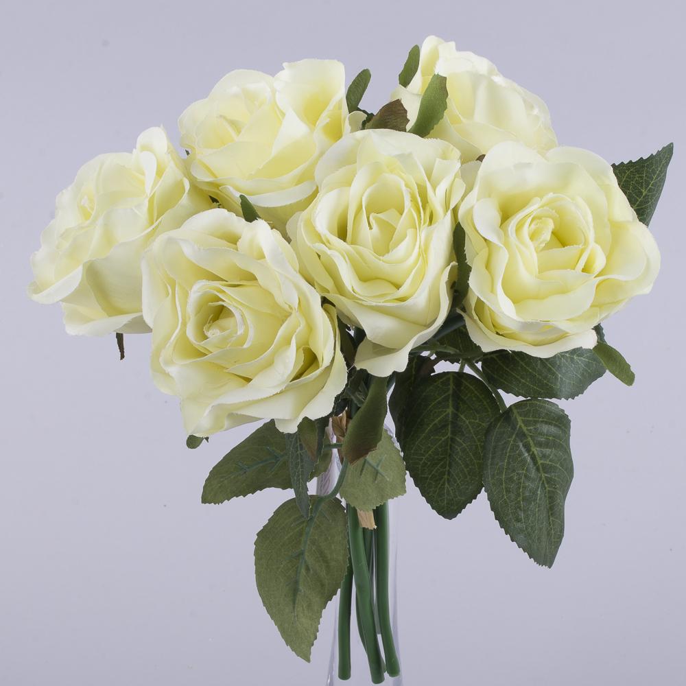 букетик коротких трояндочок лимоний