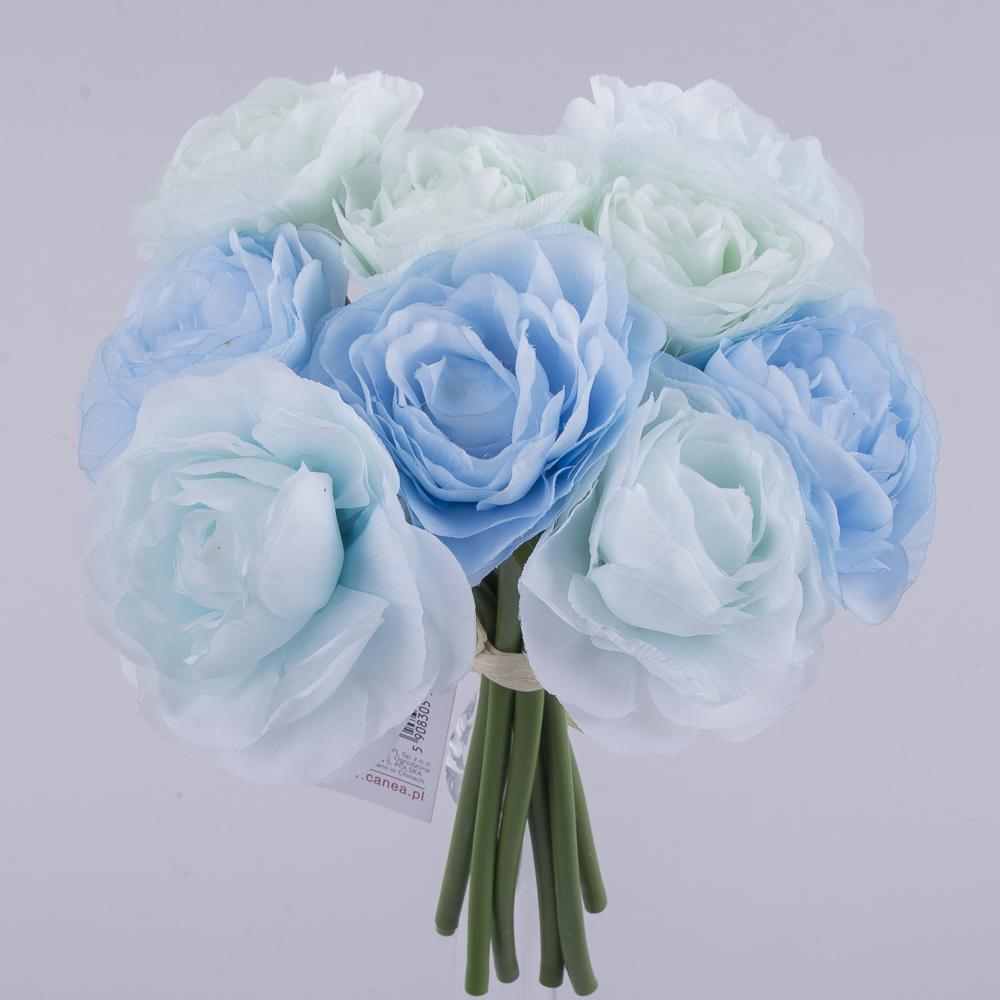 """букет камелії """"двоколірний"""" синій+голубий"""