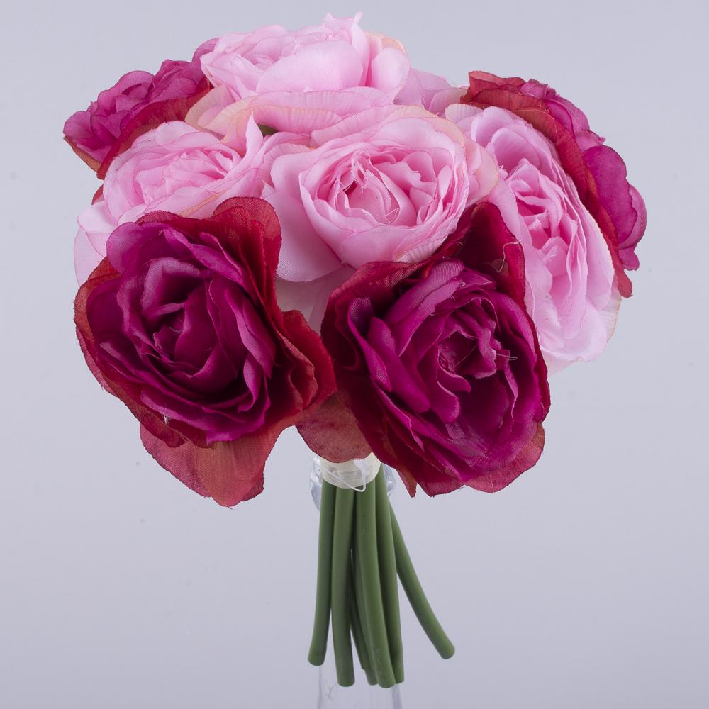 """букет камелії """"двоколірний"""" рожевий+малиновий"""