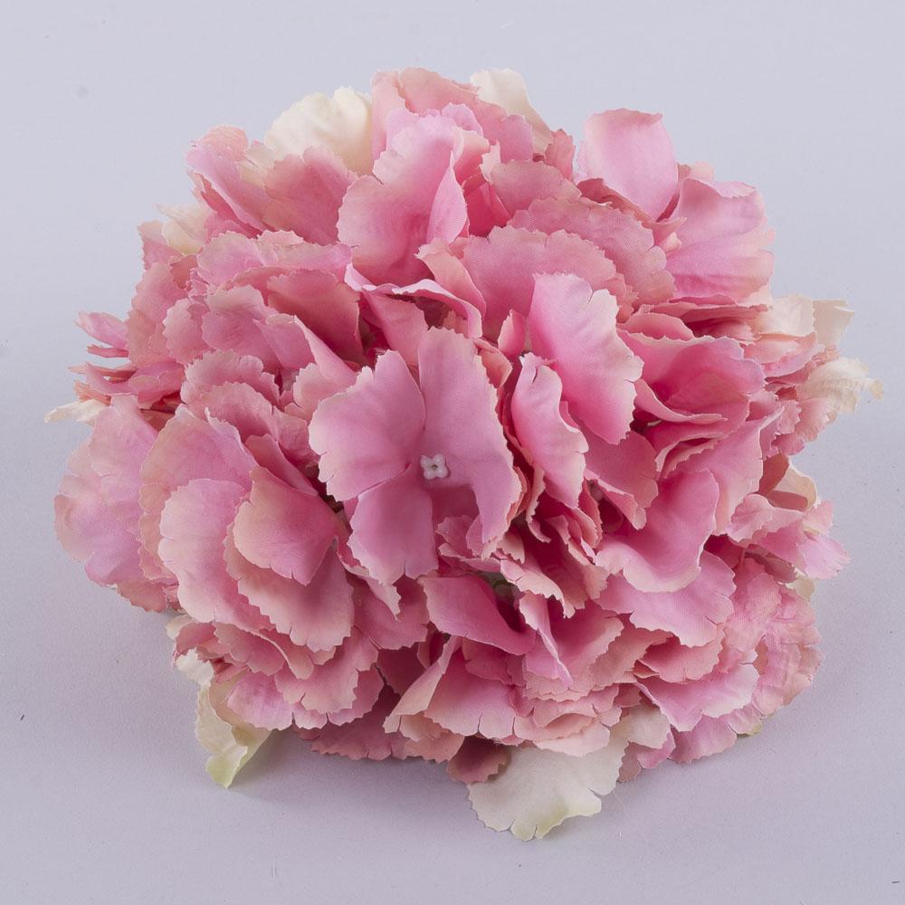 """головка гортензии """"гигант""""22 см  розовая (P55P30)"""