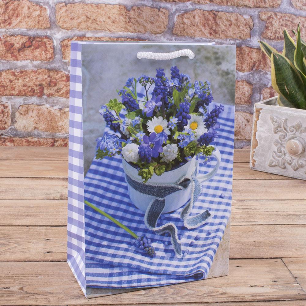 """TM -69 пакет 23*15*8 """"голубые цветы"""""""