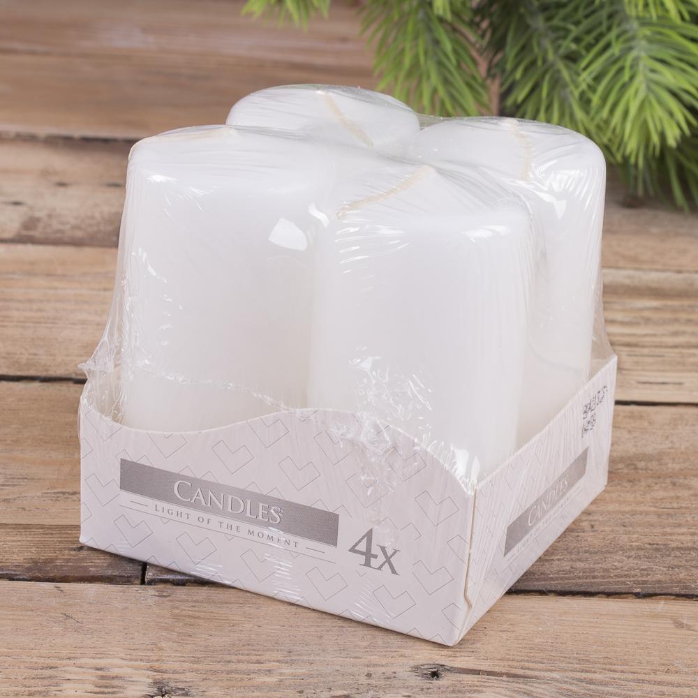 набор из 4-х свечей (средние -7,5см ) белые