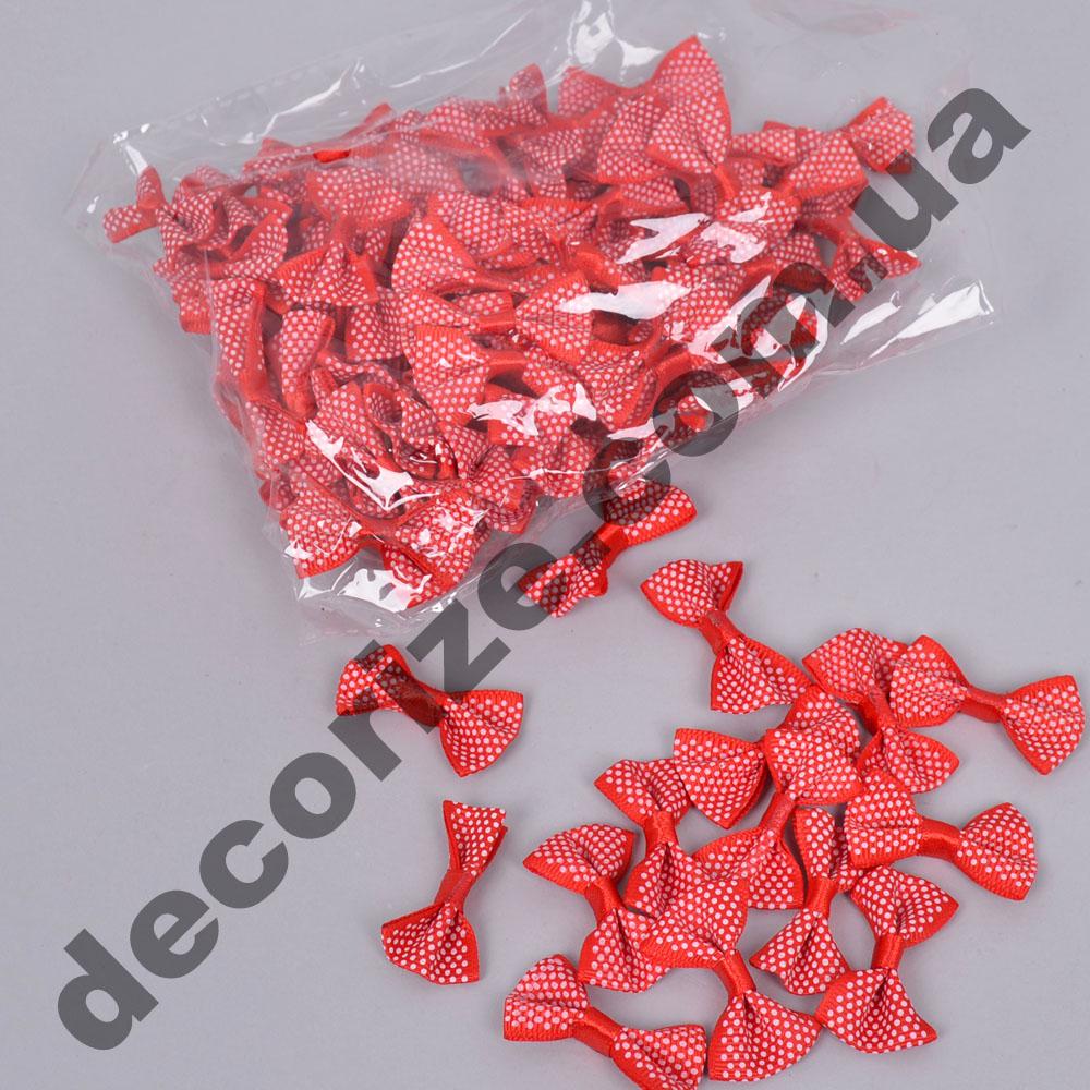 бантики тканевые красные (100шт)