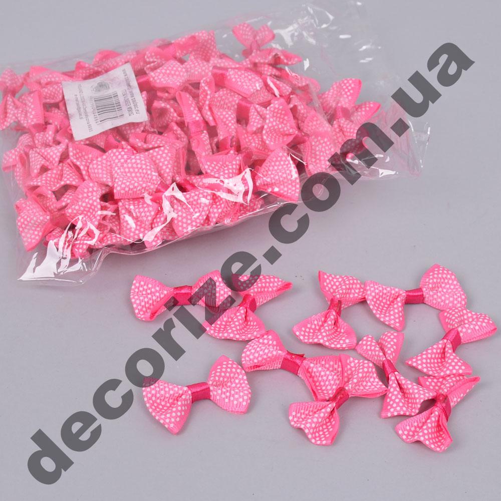 бантики тканевые розовые (100шт)