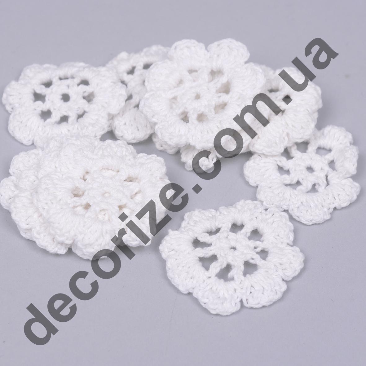 "макраме ""цветок белый"" 12шт"