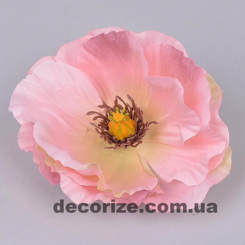 головка мак рожева