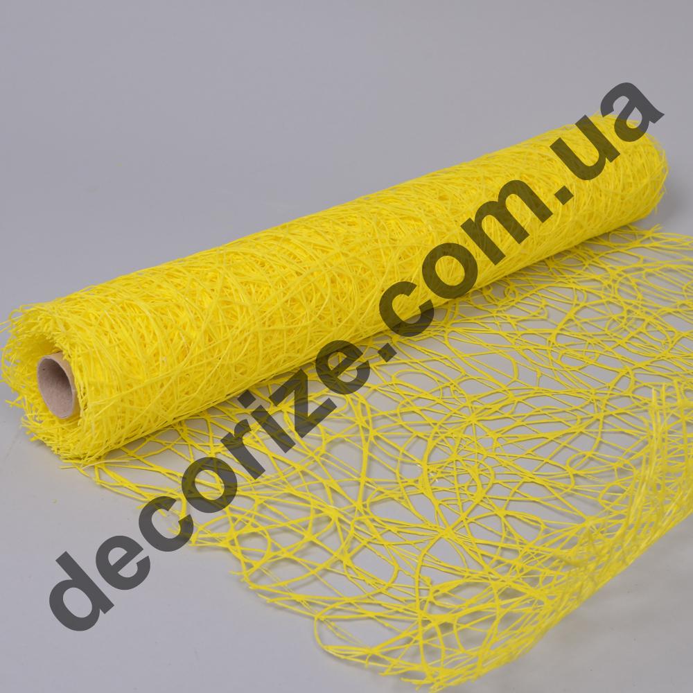 """сетка """"sisal mesh"""" ярко желтая"""