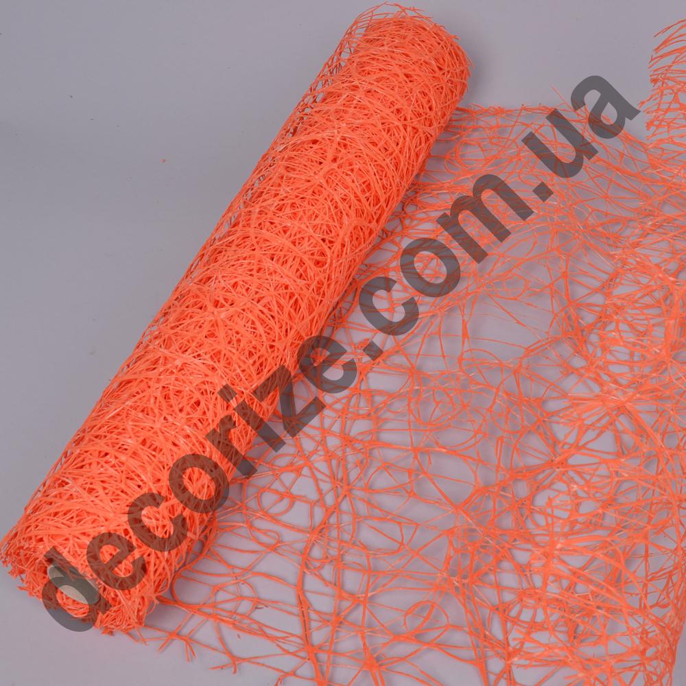 """сетка """"sisal mesh"""" морковная"""