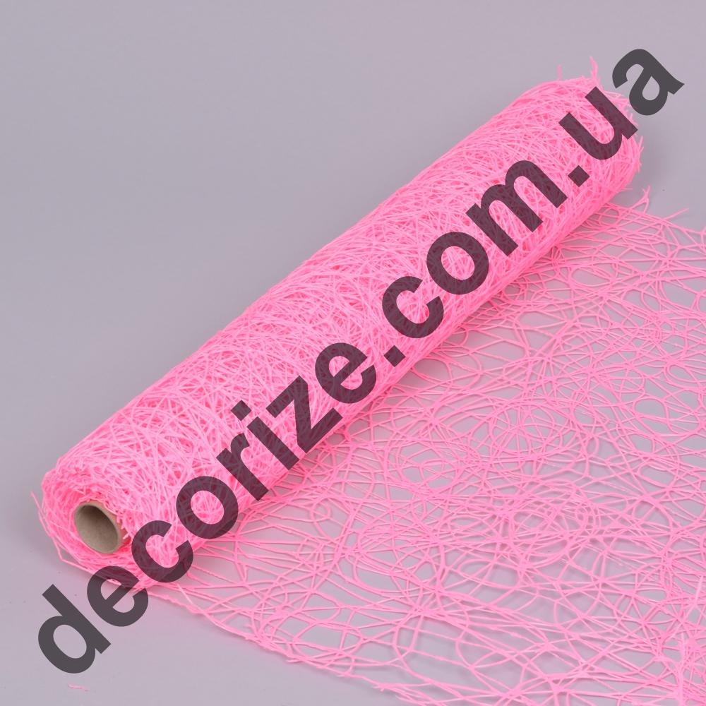 "сетка ""sisal mesh"" ярко - розовая"