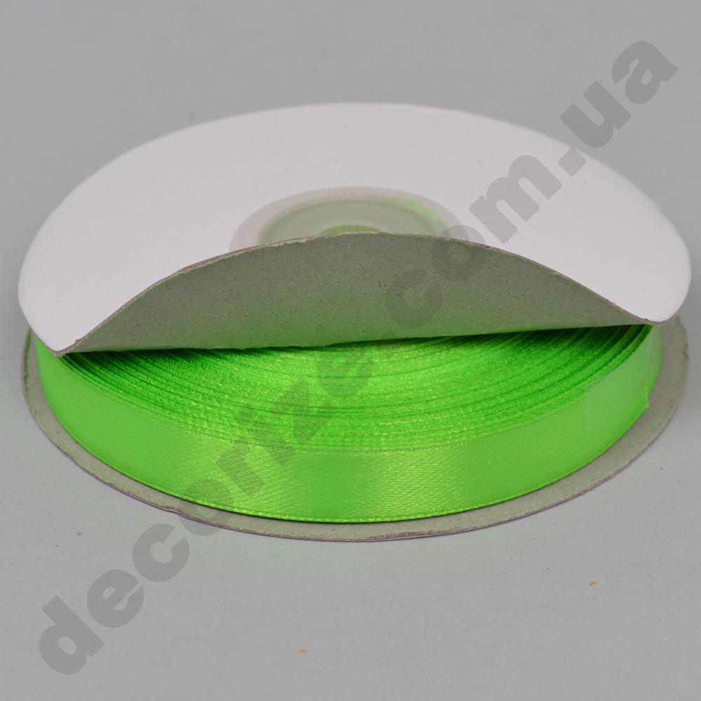 """Стрічка атласна 1.2см * 35 ярдів """"Apple green"""""""