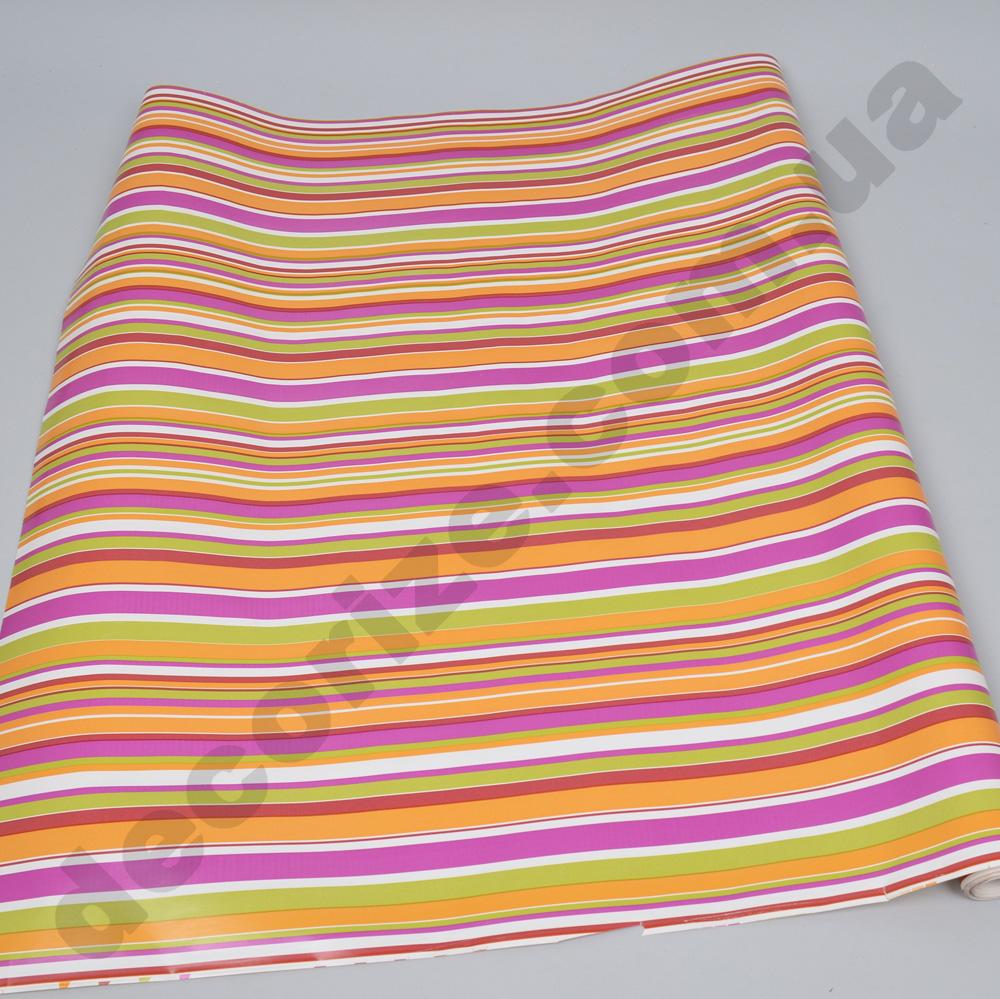 Упаковочная бумага в цветные полоски  70см * 2м.