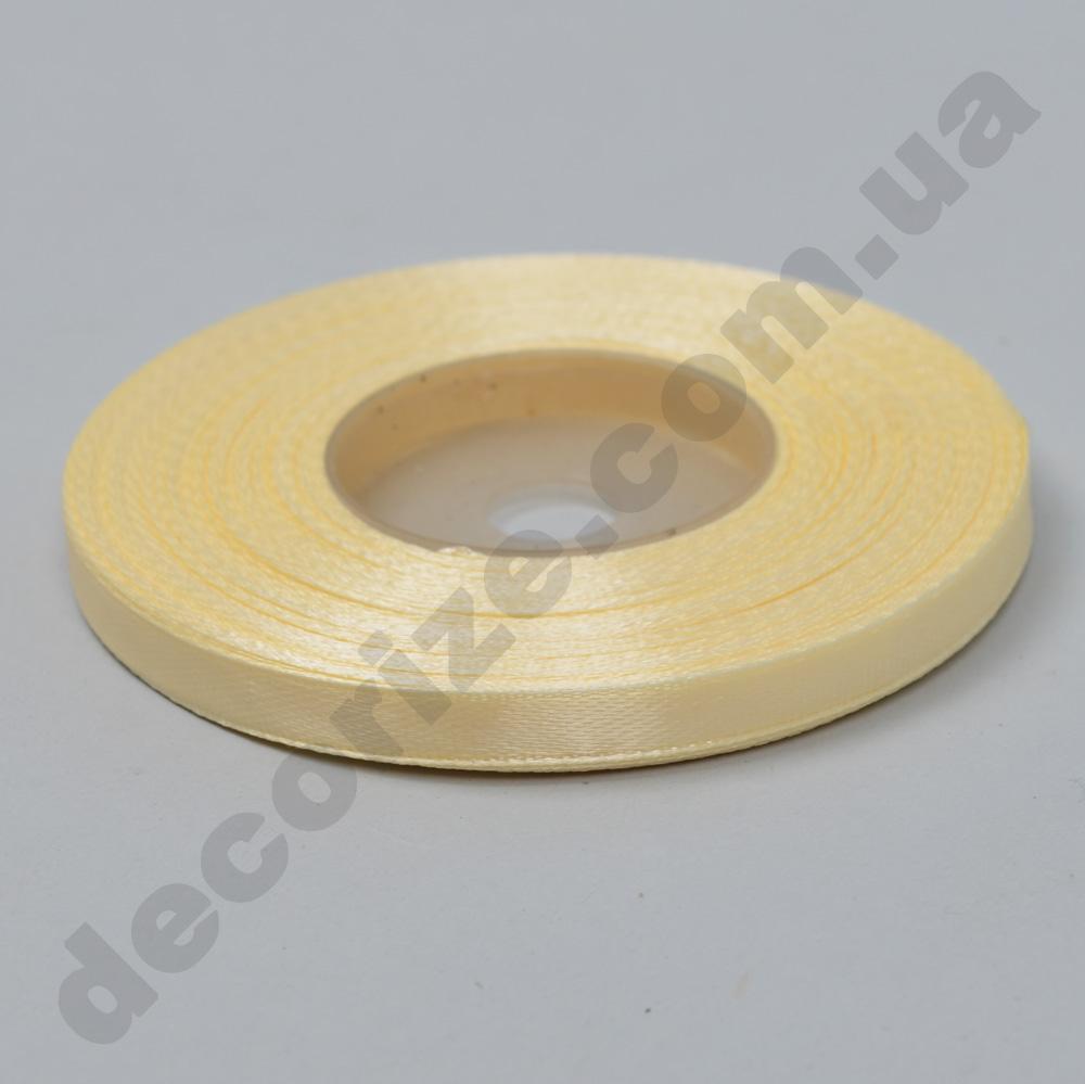 стрічка атласна 0.65см * 35 (колір №02 -кремовий)